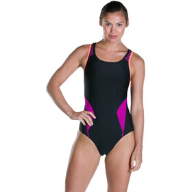 speedo Speedo Fit PowerMesh Pro Swimsuit Women Black/Diva/Fluo Orange
